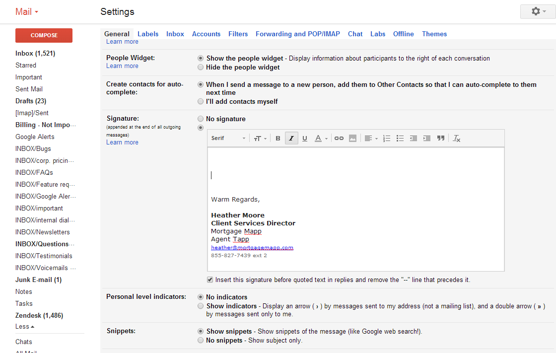 Gmail email themes